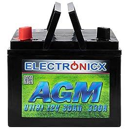 AGM U1 (9) Batterie 30 Ah 300 A (en) pour Tondeuse à Gazon à soulever, Outils de Jardinage, Batterie de démarrage…