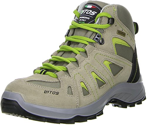 LYTOS Damen Wanderschuhe Bergschuhe beige/grün, Größe:42, Farbe:Beige