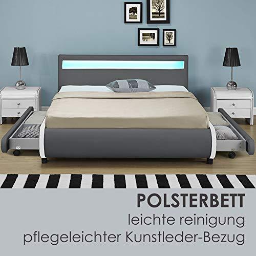 """Polsterbett """"Bilbao"""" – 140 x 200 cm – dunkelgrau - 4"""