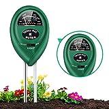 Soil pH Meter, 3-in-1 Soil Tester with Moisture, Light and PH Soil Test Kit for Garden, Farm, Lawn, Indoor & Outdoor, Soil Moisture Meter