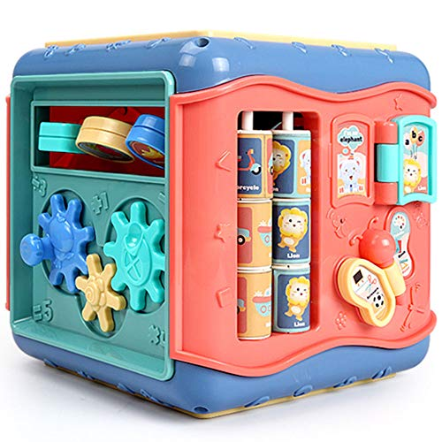 JSKLDF Juguetes Centro de Juegos Multifuncional Seis en uno Juguetes educativos creativos para niños con Formas de Aprendizaje y clasificación de Colores de Letras