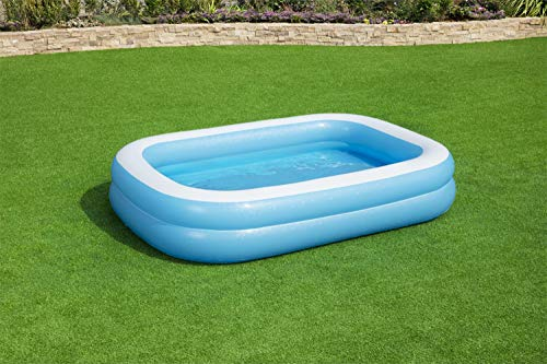 Bestway 54006 Family Rectangular Inflatable Pool, 262 x 175 x 51 cm, Blue / White