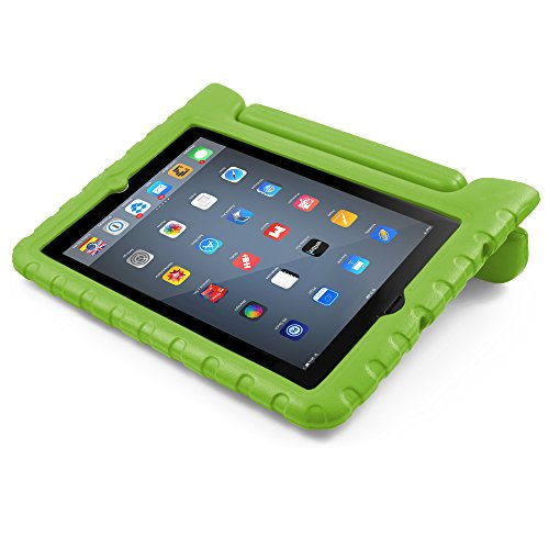 iPad Mini Case, BUDDIBOX [EVA Series] Shock Resistant [Kids Safe][Stand Feature] Carrying Case for Apple Mini iPad 2/3/4 and Retina, (Green)