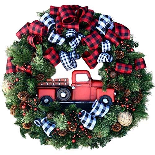 Decoraciones para colgar la puerta de la corona de Navidad, decoración navideña Coronas de guirnaldas artificiales, decoraciones creativas para el festival de la fiesta del Ministerio del Interior