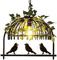 シャンデリアペンダントライト工業用ヴィンテージペンダントライトフィクスチャアイアンアートプラントケージシャンデリアシーリングライト廊下バーキッチンダイニングルーム、ブロンズ、1ライト家の装飾ランプ