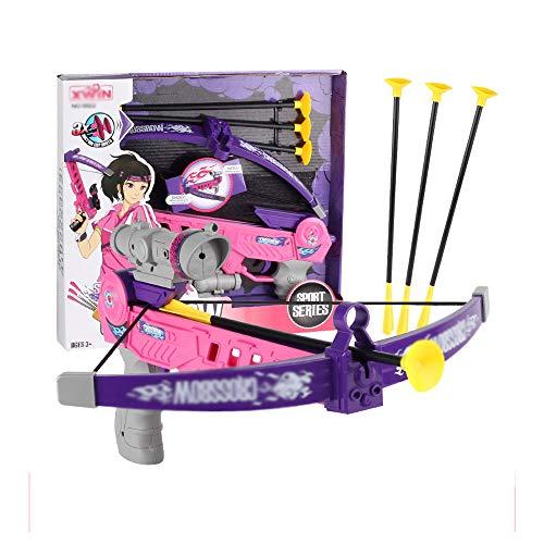 Children's Pijl en Boog Toy, Gesimuleerde Sport Crossbow Gun met infrarood Standaard functie, geschikt voor kinderen vanaf 6 jaar oud Speelgoed Sport,Gray