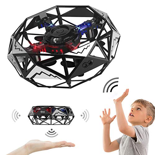 OUMMET Hand Operated Drones Toys for Kids or Adults Mini Drones Hand Controlled Flying Ball Drone for Boys and Girls Motion Sensor Helicopter Best Gift for Birthday