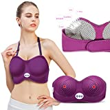 Electric Heated Breast Enlargement Bra Machine, Vibrating Chest Massager, Breast Enhancement Body Care Massager