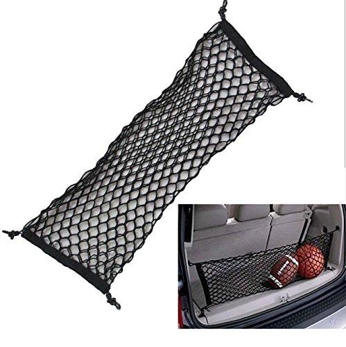 Aochol Adjustable Elastic Heavy Duty Cargo Net - Nylon Car Trunk Rear Cargo Organizer - for Car, SUV, Truck - Black