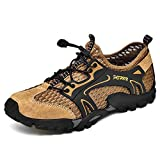 Aerlan Water Shoes for Swim,Neoprene Water Shoes,Upstream shoes, wading shoes, beach shoes, diving shoes, men's shoes-brown_41