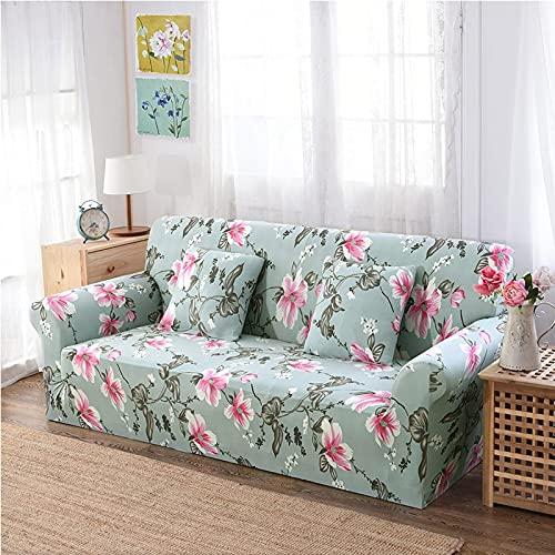 PPOS Funda de sofá Wrap Stretch Fundas de sofá Fundas de sofá seccionales elásticas Fundas de sofá para Sala de Estar Capa de sofá D9 4 Asientos 235-300cm-1pc