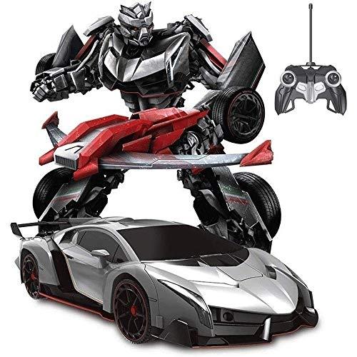 Woote Niños Remoto Presente Control De Transformers Optimus Prime Avispón Robot Automático Del Coche De RC Transformador Niños Año Nuevo Regalo De Deformación ABS Autobots Sonidos De Las Luces 360 ° R