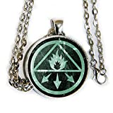 Constantine symbol'Into the Light I Command Thee' - glass cabochon pendant necklace - HM