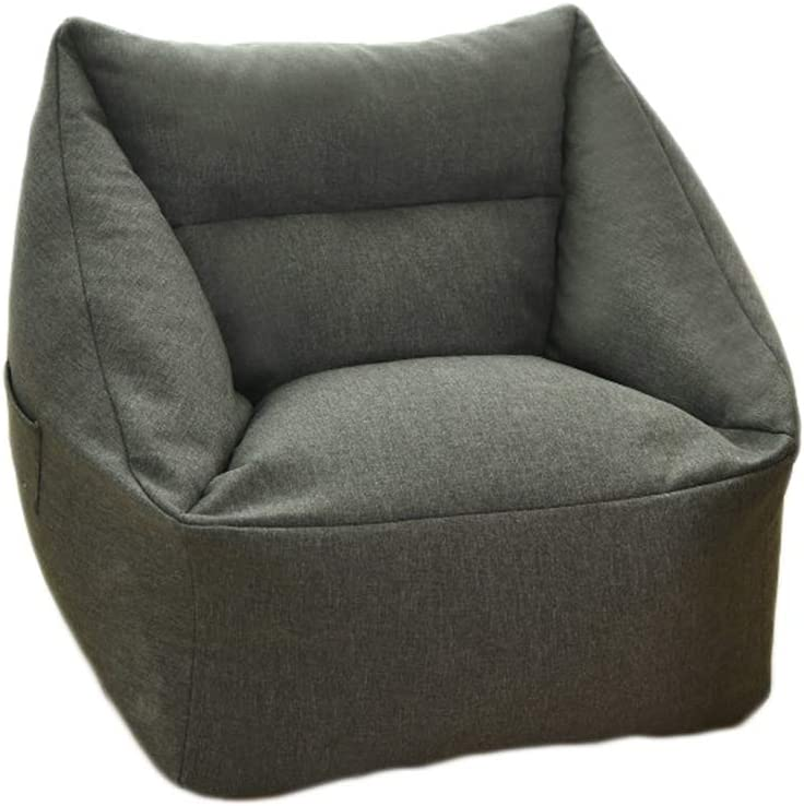 Bag Chair Sofa Max 43% OFF Cover Without Quality inspection Filler S Solid Design Simple Color