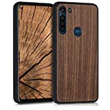 kwmobile Wooden Cover Compatible with Motorola Moto G8