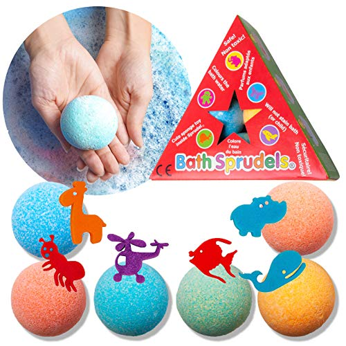 Bath Bombs for Kids: Bathbombs with Surprise Inside That Wows Any Kid, Ideal Toys Fizzies for Age 3+, Men, Women and Girls with Kids, Perfect for Family Bat (6 pcs Per Pack)