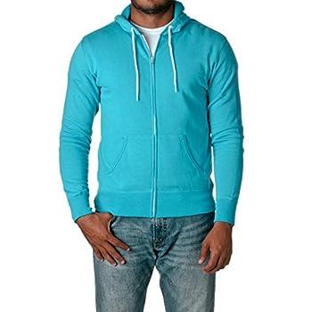 Independent Trading Co Unisex Full Zip Hooded Sweatshirt Turquoise Medium