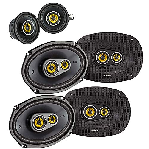 Kicker for Dodge Ram Crew Cab 2012 & up Speaker Bundle- 2-Pairs of CS 6x9 Speakers, & a Pair of CS 3.5' Speakers