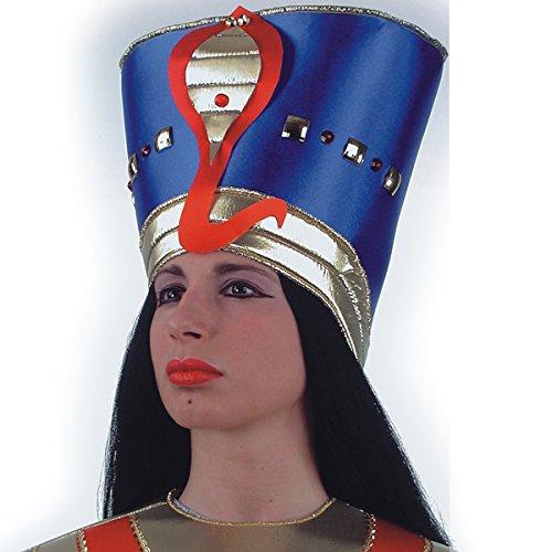 Cochecito egipcio, cleopatro, faraona azul y oro con serpiente [5734]