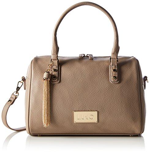 Liu Jo Damen Boston Bag Minorca Bowlingtaschen, Beige (Tortora 71212), 31x22x17 cm