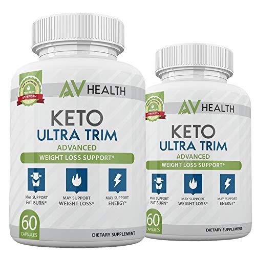 (2 Pack) AV Health Keto Ultra Trim Advanced, AV Health Keto Pills - 120 Capsules, 2 Months Supply