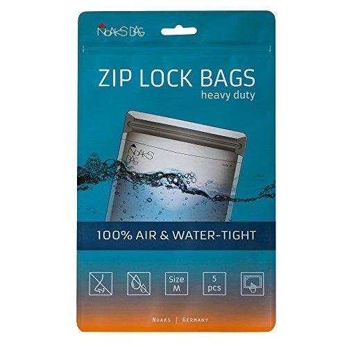 Noaks Bag | 5 Bags | Schutzhülle, Zip-Beutel, Dry-Bag | 100% wasserdicht, geruchsdicht &...