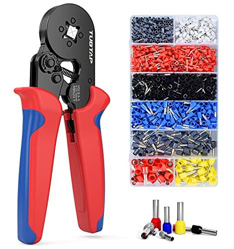 Crimpzangen Aderendhülsen Set, TUBTAP® Aderendhülsenzange Crimpzange mit 1200 stück Aderendhülsen Tool Kit 0,25-10 mm²