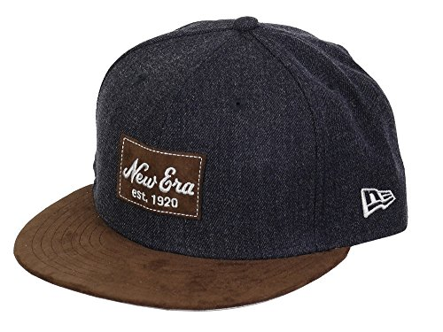 New Era Basecap 59fifty Basecap Heather Suede Heather Navy/Brown Wild Leather - 6 7/8-55cm