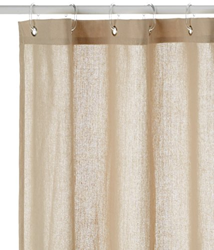 Opportunity 11 Vc13000000 Hook Duschvorhang mit Ringen, Polyester/Baumwolle, 200 x 180 cm