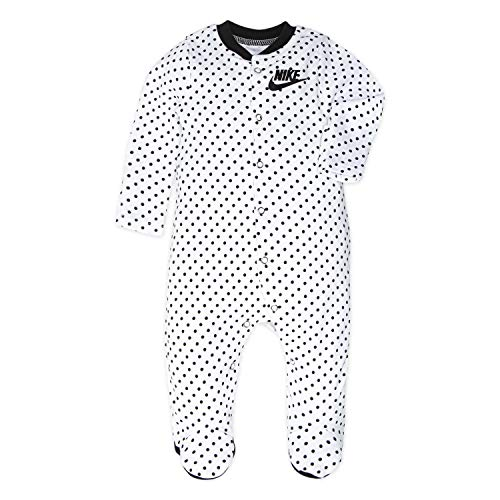 NIKE Children's Apparel Baby Girls Long Sleeve Bodysuit and Joggers 2-Piece Outfit Set, Cool Grey/Black/Volt, 3M