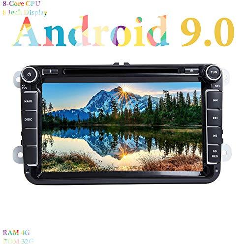 XISEDO 8' Android 9.0 Autoradio In-dash Car Radio 8 Core RAM 4G ROM 32G Navigatore e Lettore DVD per Volkswagen Golf/Passat/Caddy/Fabia (Autoradio)