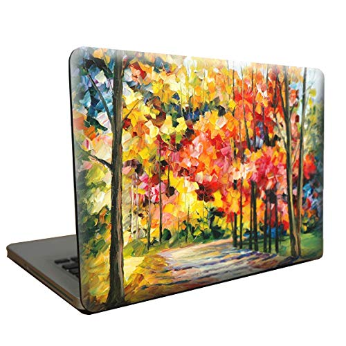 safercctv MacBook Air 33 cm Fall Fünf Kunststoff Hard Shell Cover mit Gratis Display Folie, Touchpad, Staub-Plug und Transparente Tastatur Film für MacBook Air 33 cm (Modell: A1369/A1466) Color 4