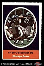1972 Sunoco Stamps Ed O'Bradovich Chicago Bears (Football Card) Dean's Cards 6 - EX/MT Bears