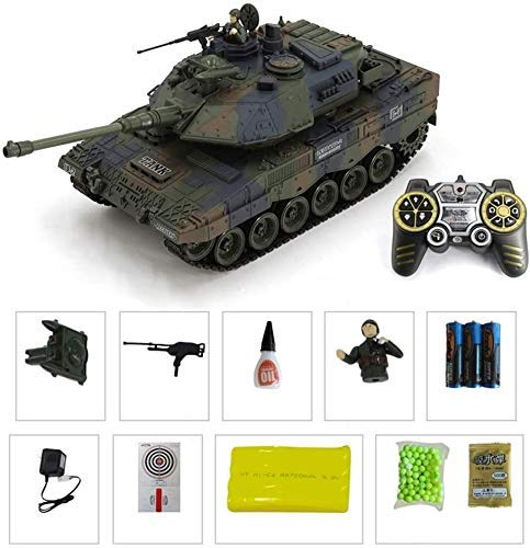YQGOO RC Main Battle Tank 2.4G Remote Control Panzer Tank 1:18 Radio Controlled 2.4G Gifts for Boys Girls Child Xmas (Color : German Leopard 2)
