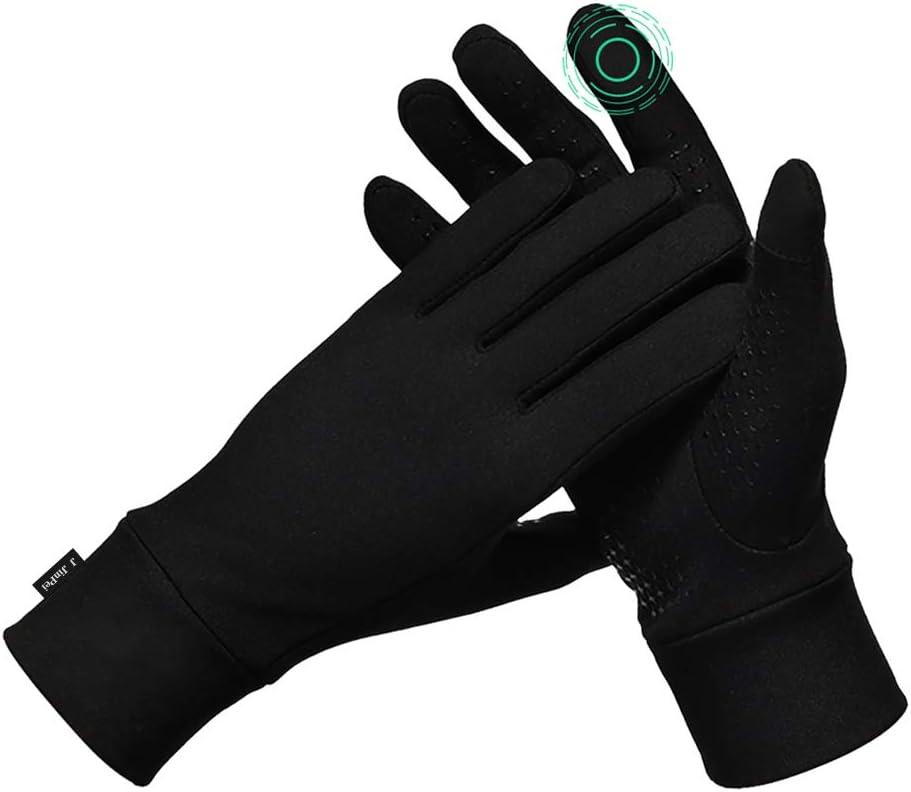 Winter Running Gloves Thin Touchscreen Gloves for Women Men Anti-Slip Lightweight Gloves Liners for Cycling Biking Driving
