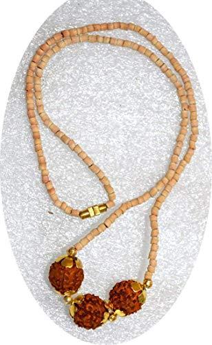 Tulsi mala Beads Tulasi Rudraksh mala Holy Basil Beads Choker Necklace Prayer Beads 1-2 mm Medicinal mala Protection from Virus infections Immunity Booster 5 mukhi 10mm rudraksha Bead