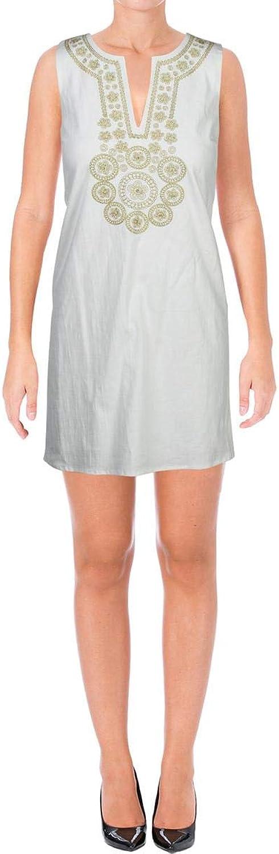 Julie Brown Womens Woven Sleeveless Cocktail Dress