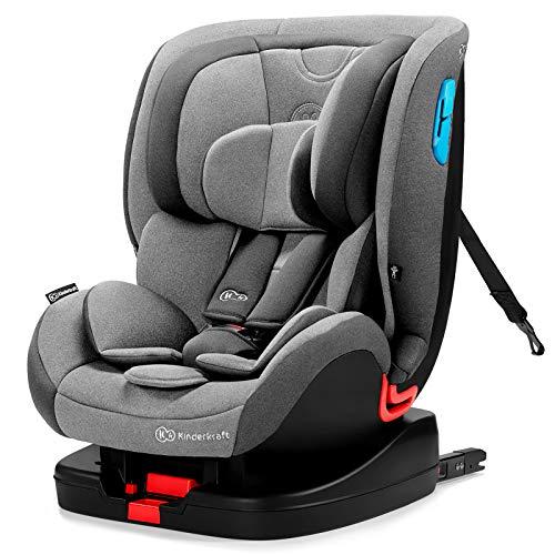 Kinderkraft Kinderautositz VADO, Autokindersitz, Autositz, Kindersitz mit Isofix, Top Tether Reclining, Einstellung der Kopfstütze, Gruppe 0+/1/2 0-25 kg, RWF 0-18 kg, INTERTEK und ECE R44/04, Grau