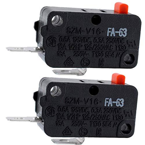 Podoy Microwave Door Switch SZM-V16-FA-63 Compatible with LG GE Starion WB24X829 3B73362F PS3522738 SZM-V16-FD-63 AP20243379(Pack of 2)