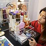 MUY Caja de Almacenamiento de cosméticos Transparente, Organizador de Maquillaje, Accesorios de baño, Barra de Labios, Estante de Almacenamiento de plástico, cajón, Gran Capacidad