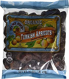 Trader Joe's Organic Turkish Apricots Dried Fruit 16 oz (Pack of 3)