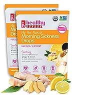Healthy Mama Nip The Nausea! 2 Pack Organic Morning Sickness Relief Drops;Ginger Lemon. Nausea Relief from Morning Sickness, Chemo, Motion Sickness (2-Pack)