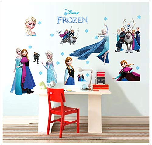 Kibi Wandtattoo Eiskönigin (Frozen) Wandsticker Frozen Disney für Kinderzimmer Living Room Removable Prinzessin Elsa Wandtattoo Kinderzimmer Frozen Olaf