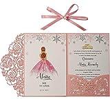 Inviti di Nozze rosa con buste per biglietti inviti matrimonio taglio laser feste di fidanzamento, compleanno, baby shower