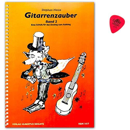 Gitarrenzauber Band 2 (ohne CD) - Gitarrenschule für Kinder ab 5 Jahren mit Dunlop PLEK (Prinzip der kleinen Lernschritte) - Autor Stephan Hesse - KN1417-9783926440198