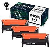 3 Pack Black 406S K406S CLT-K406S Toner Cartridge Replacement for Samsung C46x C41x 330x C410W C460W C460FW C412W C413W C462W C462FW C463W C463FW CLP-365 360 CLX-3300 3305 3305FW - by VaserInk