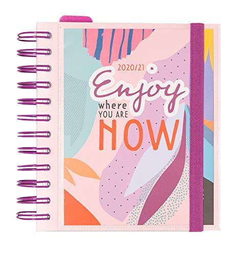 Grupo Erik - Agenda escolar 2020/2021 día página M Amelie Colección Tropical, 11 meses (14 x 16 cm) Amelie (ADPM2001)