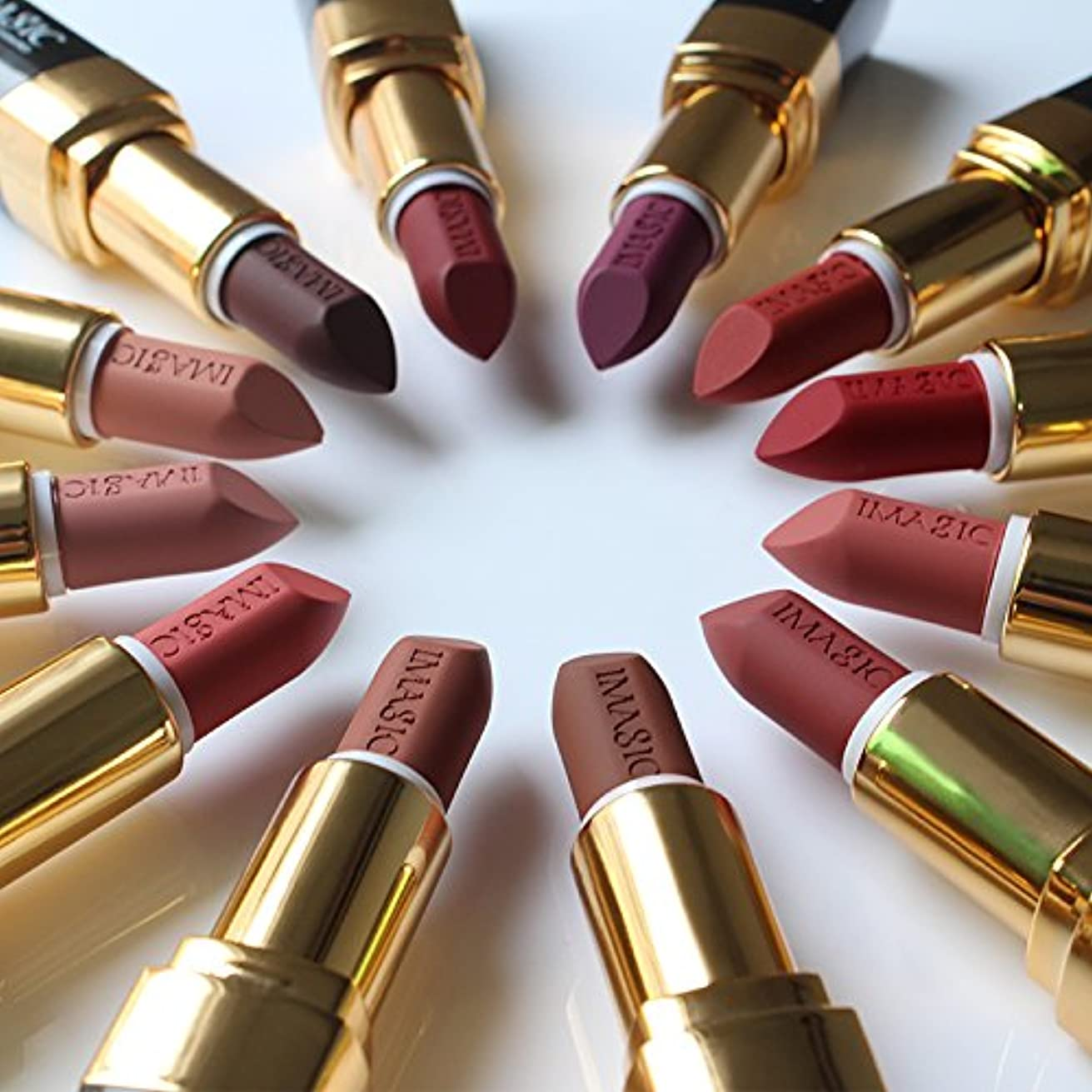 習熟度召集する発明するColor #2 Lipstick Moisturizer Lips Smooth Lip Stick Long Lasting Charming Lip Lipstick Cosmetic Beauty Makeup 12 Colors
