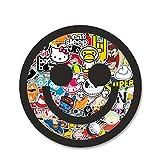RTCH Autoaufkleber 13 cm x 13 cm Bomb Smiley Mit Multi Farbe Stickerbomb Motiv Skateboard Graffiti DIY Auto Aufkleber Vinyl Aufkleber