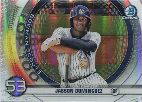 2020 Bowman CHROME - Jasson Dominguez - Scouts Top 100 Prospects - New York Yankees Baseball Rookie Card RC #BTP53